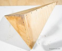 Build a Triangle Wood Volume for Your Climbing Wall
