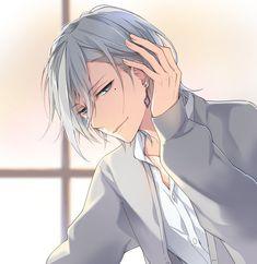 Anime Boys, Manga Anime, Cute Anime Guys, Manga Boy, Anime Chibi, Anime Art, Anime White Hair Boy, Boy With White Hair, Anime Style