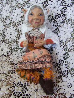 Art Doll OOAK - ELLANDELL - An Old Helper Elf by Gwenda Hague of Ladmorasartdolls on Etsy