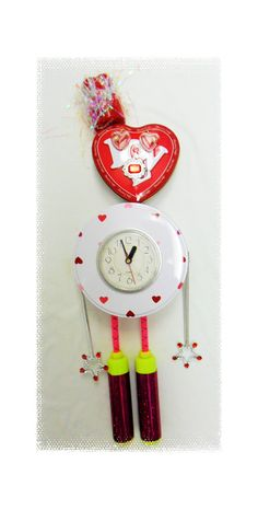 Clock Whimsical Assemblage of Mixed Media Found by JazzieMenagerie, $45.00