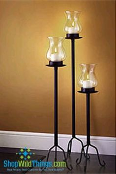 57 Floor Standing Hurricane Candle Lanterns Set Of 3 46 In 38