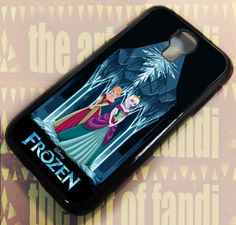 Anna and Elsa For Samsung Galaxy S4 Black Rubber Case