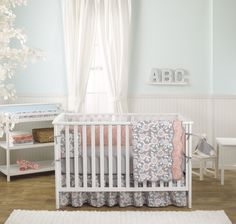 Enter to win an adorable 7-piece crib bedding set from @balboababy! #win #giveaway