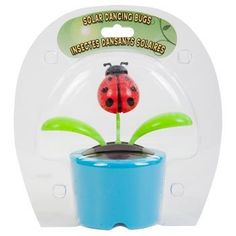 """4""""plastic Solar-powered Dancing Bugs (Assorted Colors and Designs) . $4.48. A fun solar toy that is all the buzz! These adorable bugs start to """"cut a rug"""" when their solar strip is exposed to light - bugs and leaves sway to and fro. A fun addition to any desk, table, or counter,  4¼"""" plastic solar-powered dancing bugs assorted among bees, ladybugs, and butterflies and the pot colors shown."""