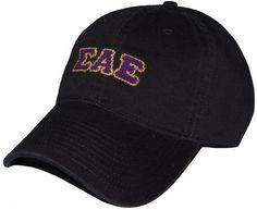 Sigma Alpha Epsilon Needlepoint Hat in Black by Smathers & Branson