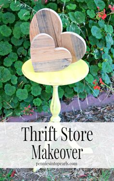 Small End Table Makeover -penniesintopearls. - Tips on how to make over you thrift store find. The easiest way to makeover your thrift store find! Frugal Living Tips Thrift Store Shopping, Thrift Store Crafts, Thrift Store Finds, Easy Crafts For Kids, Easy Diy Crafts, Diy Craft Projects, Diy Furniture Redo, Thrift Store Furniture, End Table Makeover