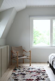 BEDROOM IN NATURAL TONES - MAIJU SAW Beautiful Dream, Cozy Bedroom, Ikea Hack, Beautiful Bedrooms, House Design, Lights, Furniture, Attic, Natural