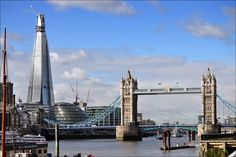 Tower Bridge and the Shard in the background, London