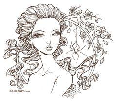 Frightening Beauty inks by KelleeArt.deviantart.com on @deviantART