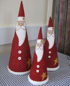 Christmas Holiday paper mache Cone Yarn Trees with berry
