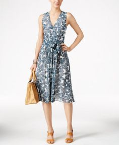 Sale $109.99   Reg. $129.00 Sale ends 8/14/16   Savings not based on actual sales EXTRA 15% OFF code: SUNDAYAnne Klein Butterfly-Print Chiffon A-Line Dress