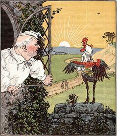 Manhã, ilustração de Randolph Caldecott.