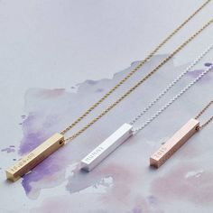 My first shoot for Not on the High Street personalised bar necklace by lisa angel | notonthehighstreet.com