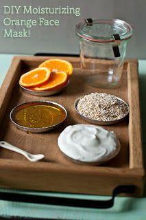 masque visage orange, miel, yaourth, avoine