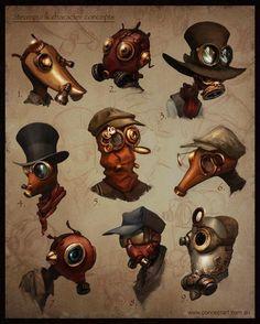 Steampunk Concept Art by Nathan Geppert