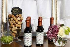 Étiquette personnalisée pour bouteille de vin, mariage viticole