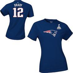 TOM BRADY Reebok T-Shirt - New England Patriots Super Bowl XLVI $26.99
