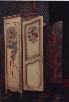 Hand Painted Armoire, Inside And Out