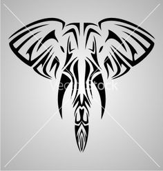 Tribal elephant head vector by iwant61 on VectorStock®
