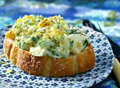 Lemon-dill egg salad..huge fan of this sandwich salad since i love love love citrus and try to find any way to use citrus zest.  the dill was also very nice and added lots of fresh zip...MM
