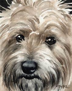 CAIRN TERRIER Dog Art Print Signed by Artist DJ by k9artgallery, $12.50