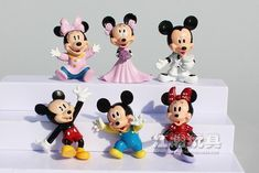 Mickey & Minnie Mouse Action Figures #collectiblefigurines