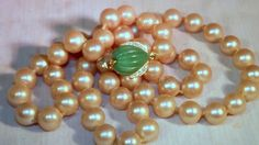 Vintage Marvella Creamy Pearl Necklace Each Glass by JVZJEWELRY