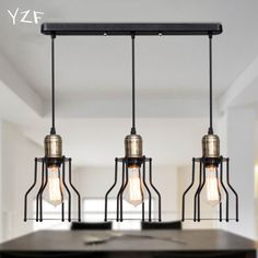 YZF New Industrial retro style Art Pendant light LED pendant lamp Edison bulb American village Hanging Lamps luminaries-in Pendant Lights from Lights & Lighting on Aliexpress.com | Alibaba Group