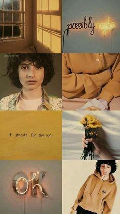 El es simplemente una cosa bien hecha❤. Collages, Finn Stranger Things, Stranger Things Aesthetic, Netflix, Jack Finn, Millie Bobby Brown, Cute Wallpapers, Iphone Wallpapers, Illustration