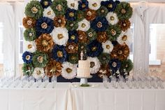 Paper Flower Wedding Backdrop - PHOTO SOURCE • SUMMER STREET PHOTOGRAPHY