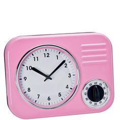 FIFTIES FOREVER Kuchyňské retro hodiny - růžová / retro kitchen clock Retro Kitchen Clocks, Retro Clock, Butler, Timer Clock, Shops, House Design, Rich Woman, Party Buffet, Decor Ideas