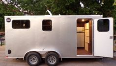 This is a custom-built cargo trailer conversion tiny house on wheels for sale in Florida and you're welcome to come on in to take the tour and learn more! Camper Trailer Tent, Enclosed Trailer Camper, Cargo Trailer Camper Conversion, Work Trailer, Slide In Camper, Utility Trailer, Converted Cargo Trailer, Enclosed Cargo Trailers, Trailer Plans