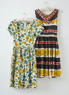 love these two vintage frocks!