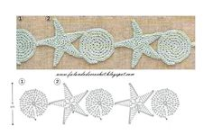 Crochet border or garland made out of stars and circles! I can see this as a border to my beach towel!