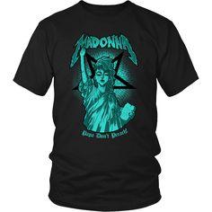 Madonna - Papa Don't Preach metal shirt. USD 17.59 We ship worldwide ------------ metal head, black metal, madonna, queen of pop, pop music, metal fashion