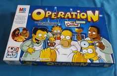 Operation The Simpsons Edition Family Fun Complete MB Games  2005 Vintage