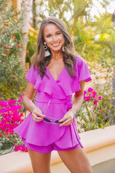Best Kind Of Night Romper Purple Purple Outfits, Purple Dress, Formal Romper, Pink Lily, Fall Wardrobe, Online Boutiques, Cute Fashion, Dress Up, Rompers