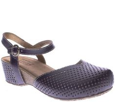 Spring Step LArtiste Leather Wedge Clogs -Lizzie