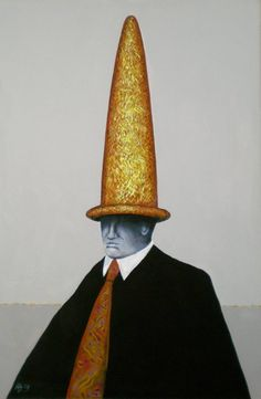 "Saatchi Art Artist Helmut Zimmermann; Painting, ""Sombrero dorado # II"" #art"
