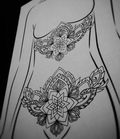 """amberjaneillustrations: """"I have this design available i want to tattoo, preferably on lower stomach or sternum, email thetattoosanctuary@gmail.com for bookings ✖ #blxckink #blackworker #blacktattooart..."""