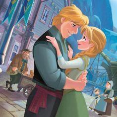 "Walt Disney Book Image of Kristoff Bjorgman and Princess Anna from ""Frozen"" 35919785 Disney Pixar, Walt Disney Characters, Walt Disney Animation, Arte Disney, Disney And Dreamworks, Disney Magic, Disney Princesses, Disney Wiki, Disney Facts"