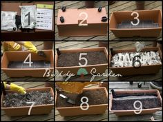 Earthbox instructions. These are a great way to container garden...in a small yard...a balcony...deck... even place on sawhorses or blocks to avoid the dreaded 'gardener back'. Complete instruction here.