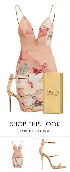 """."" by queenme10 ❤ liked on Polyvore featuring Ginger Fizz, Giuseppe Zanotti and Yves Saint Laurent"
