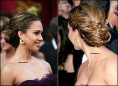 Celebrity Hairstyles, Down Hairstyles, Braided Hairstyles, Updo Hairstyle, Braided Updo, Prom Hairstyles, Chignon Wedding, Natural Wedding Hairstyles, Ballroom Hair