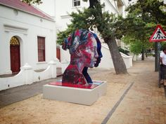 Public sculpture exhibition, Stellenbosch, South-Africa.