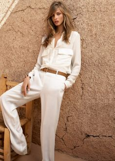 [Mango Summer 2012 Lookbook] All soft! Making me reconsider the idea of tapering my straight leg winter white trousers, but tapering is so much more practical for my fall/winter weather. Maybe I just also need a flowy spring/summer white pair!
