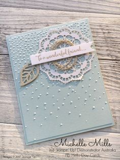 Michelle Mills Ind Stampin' Up! Demonstrator Australia. FB: Hello Day Cards