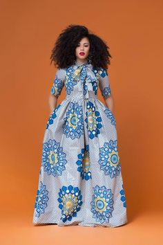 At Grass-fields we create contemporary African clothing to show off every shape of woman, in beautiful bold African print and an incredible fit. Long African Dresses, Latest African Fashion Dresses, African Print Dresses, African Print Fashion, Africa Fashion, African Prints, African Attire, African Wear, African Outfits