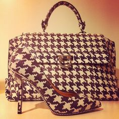 houndstooth purse and heels - kindof in love with houndstooth at the moment