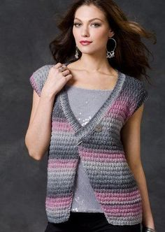 Ravelry: Midnight Sky Vest pattern by Jodi Snyder - free pattern Knit Cardigan Pattern, Sweater Knitting Patterns, Knit Patterns, Free Knitting, Crochet Woman, Knit Crochet, Crochet Clothes, Midnight Sky, Sweaters